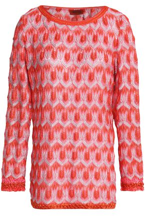 MISSONI Metallic crochet-knit top