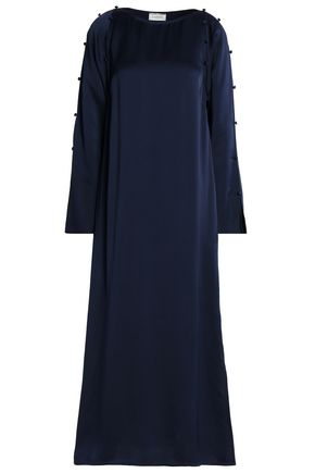 LANVIN Button-detailed satin gown