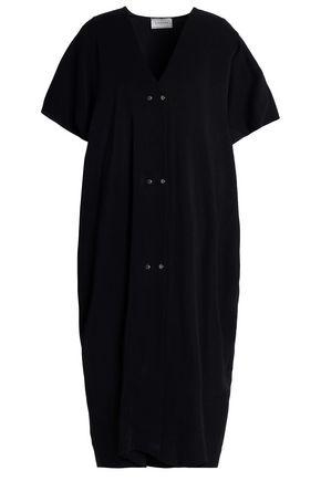 LANVIN Studded stretch-jersey midi dress