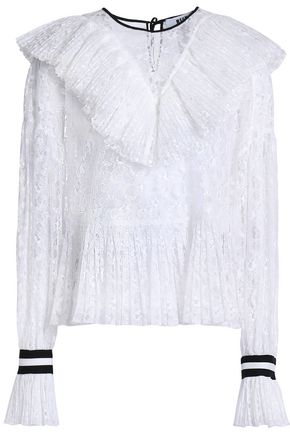 MSGM Ruffled lace blouse