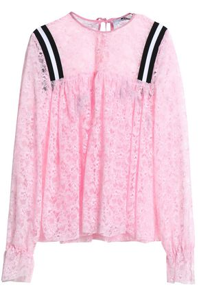 MSGM Gathered lacew top