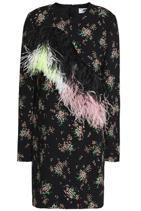MSGM Ostrich feather mini dress