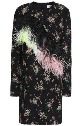 MSGM Ostrich feather mini dress