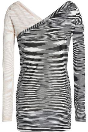 MISSONI Wrap-effect layered crochet-knit top