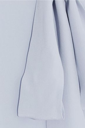 IRIS & INK Annie pussy-bow silk crepe de chine blouse
