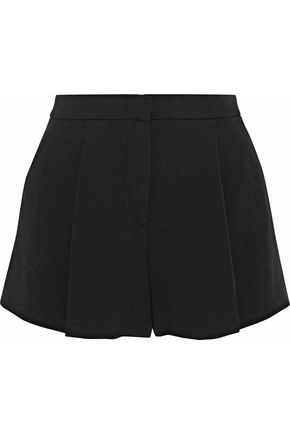 WOMAN PLEATED CREPE SHORTS BLACK