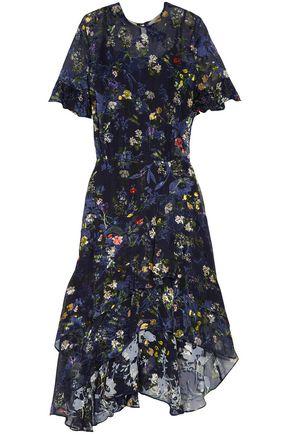 PREEN by THORNTON BREGAZZI Annabel floral-print devoré silk-blend chiffon dress