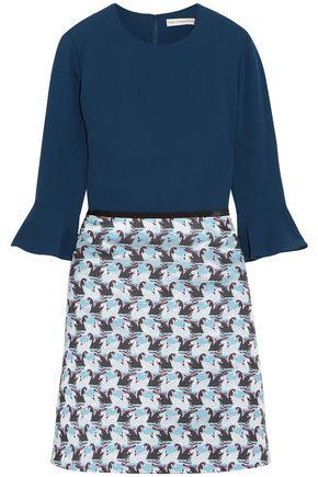 MARY KATRANTZOU Ligretto crepe and jacquard mini dress