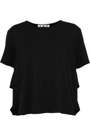 AMO Tomboy distressed cotton-jersey T-shirt