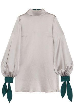ROKSANDA Nivala hammered-silk blouse