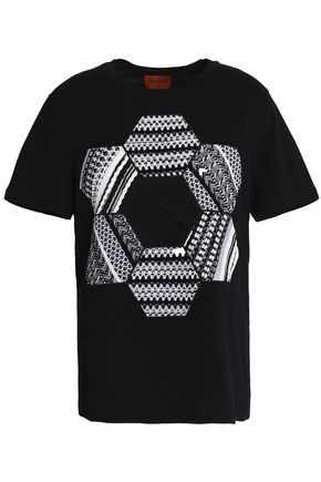MISSONI Crochet-paneled cotton-jersey T-shirt