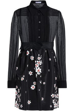 REDValentino Printed silk-blend mini dress