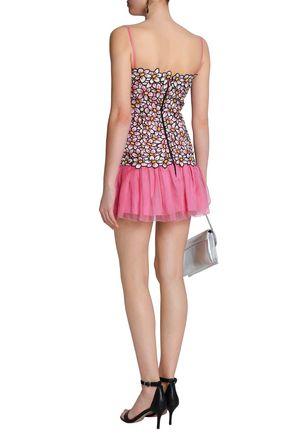 REDValentino Printed organza mini dress