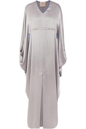 ROKSANDA Visby hammered silk-satin gown