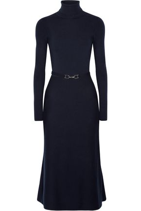GABRIELA HEARST Betty open-back belted wool-blend midi dress
