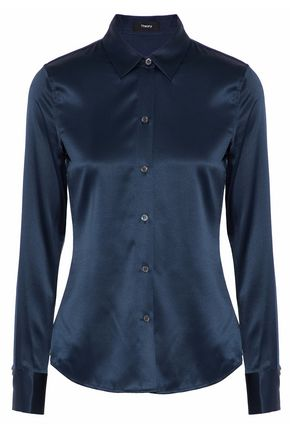 THEORY Silk-satin shirt