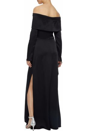 THEORY Off-the-shoulder crepe maxi dress
