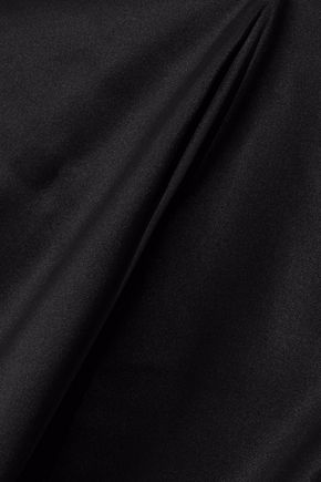 THEORY Silk-blend satin halterneck top