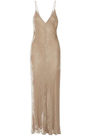 JUAN CARLOS OBANDO Velvet maxi slip dress