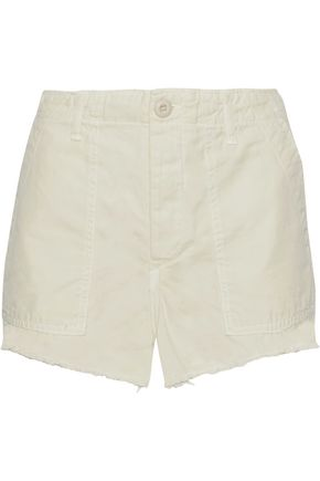 AMO Army frayed cotton-canvas shorts
