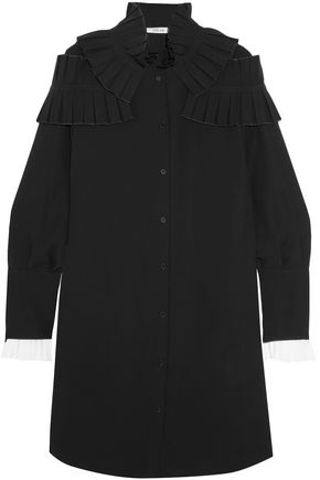 ADEAM Ruffled crepe shirt dress