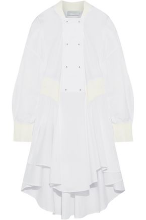 ESTEBAN CORTAZAR Paneled cotton-blend poplin and twill dress