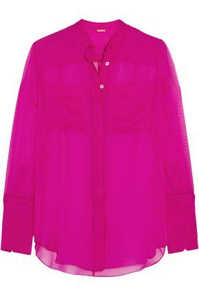 ADAM LIPPES Silk-chiffon blouse