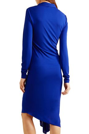 ATLEIN Ruched stretch-jersey dress