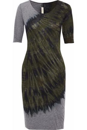 RAQUEL ALLEGRA Tie-dyed cotton-blend jersey dress