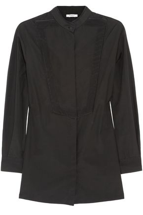 GIVENCHY Silk satin-trimmed cotton-poplin shirt