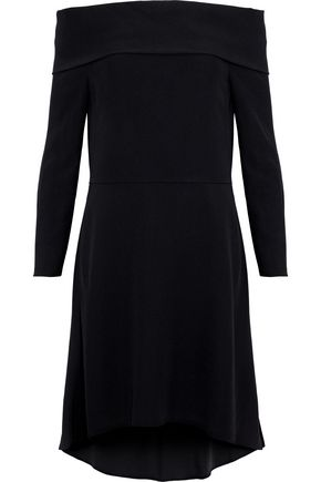 THEORY Kensington off-the-shoulder crepe dress