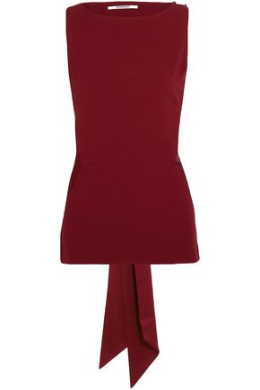 CHALAYAN Tie-back cutout crepe top