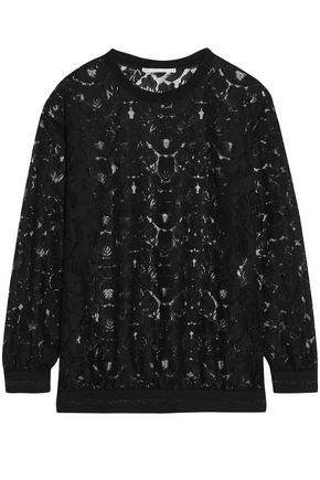 STELLA McCARTNEY Ines metallic-trimmed lace top