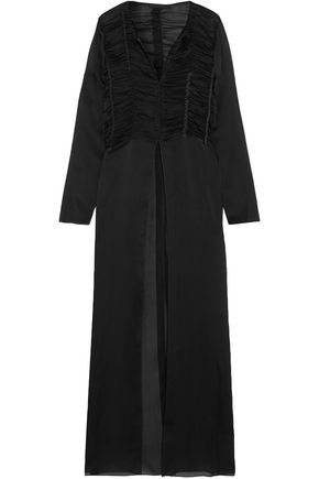 THE ROW Sabrina ruched silk-chiffon maxi dress
