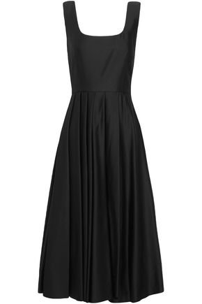 A.W.A.K.E. Pleated satin-jersey dress