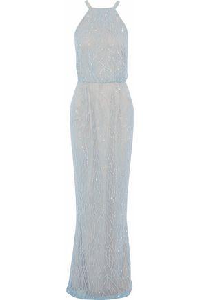 RACHEL GILBERT Toriana beaded tulle gown