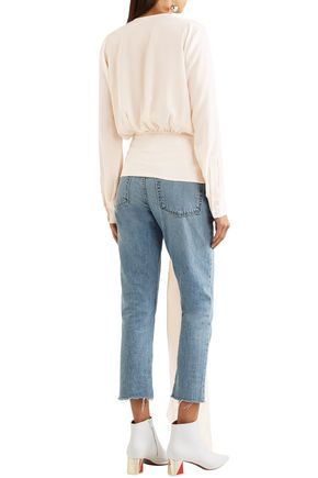 STELLA McCARTNEY Freya gathered draped silk blouse