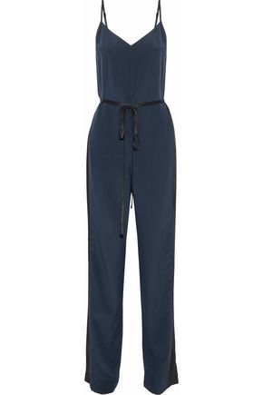 RAG & BONE Rosa satin-paneled washed-silk jumpsuit