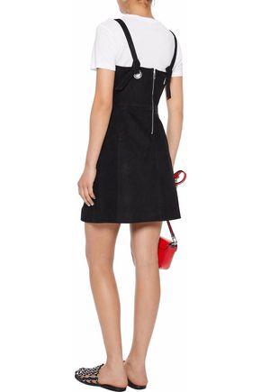 RAG & BONE Croft knotted suede mini dress