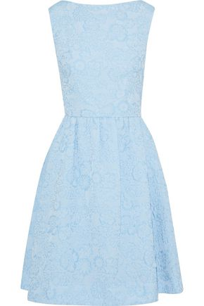 ERDEM Flared floral-jacquard dress