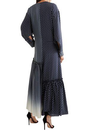 STELLA McCARTNEY Dominique paneled printed silk crepe de chine maxi dress