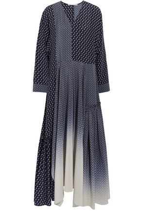 STELLA McCARTNEY Dominique paneled printed silk crepe de chine maxi dress