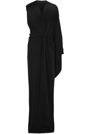 TOM FORD Asymmetric draped washed-silk gown