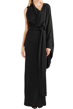 TOM FORD Asymmetric draped silk-crepe gown