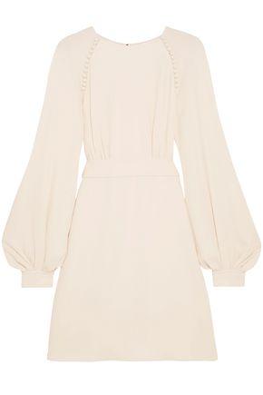 CHLOÉ Button-detailed crepe mini dress