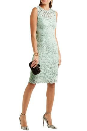 Dolce Gabbana Cotton Blend Corded Lace Dress