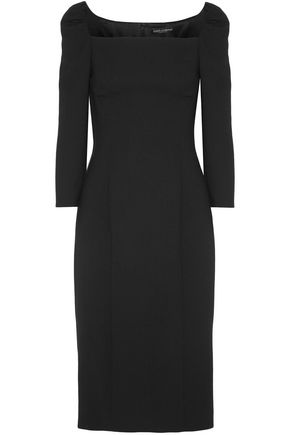 DOLCE & GABBANA Wool-blend crepe dress