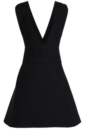 NICHOLAS Flared felt mini dress