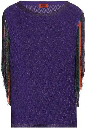 MISSONI Fringe-trimmed crochet-knit top