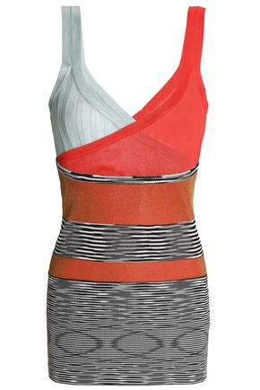 MISSONI Paneled stretch-knit tank